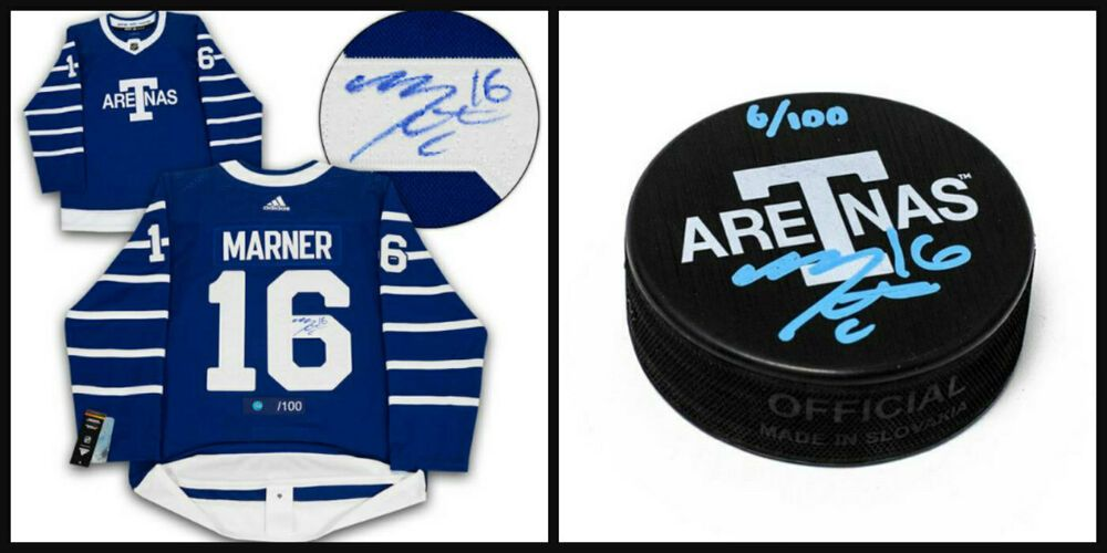 factory price 67ab9 aa3b8 Mitch Marner Autographed Toronto Arenas Pro Jersey With Free ...