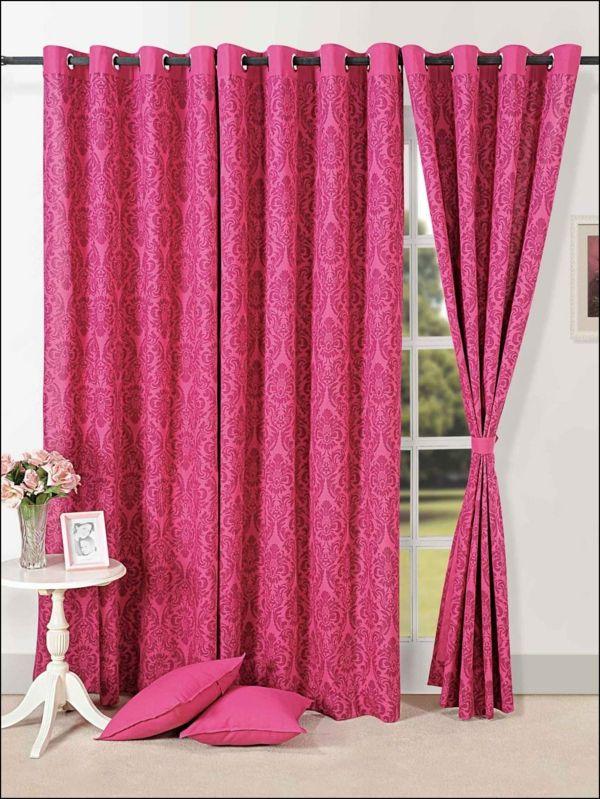 gardinen dekorationsvorschläge pink