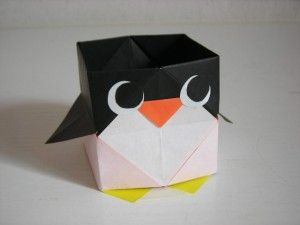 Cute Penguin Box Origami Is Great For Homeschooling It Teaches Kids To Follow Steps