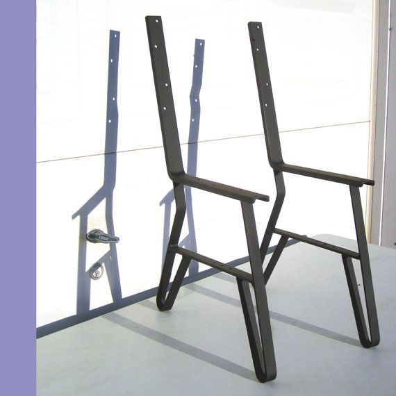Logan S Order 9 Single Park Bench Flat Iron Metal Legs Etsy Metal Bench Furniture Legs Wooden Bench