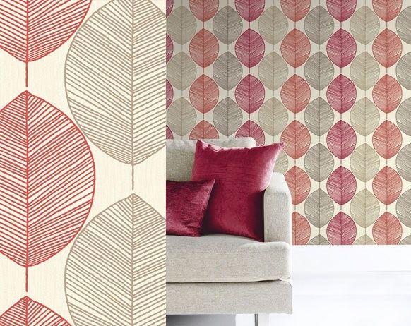 Opera Wallpaper Retro Leaf Red Google Search Kitchen Interior