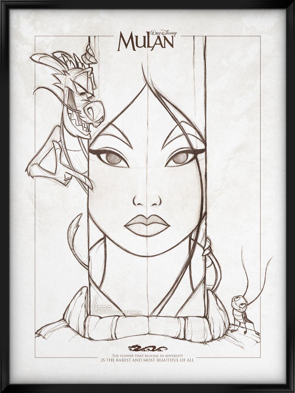 coloriage mulan | Desenhos de personagens da disney ...
