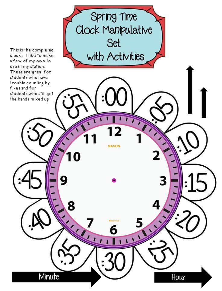 Telling Time To The Hour And Half Hour Kids Math Worksheets Learning Math 1st Grade Math