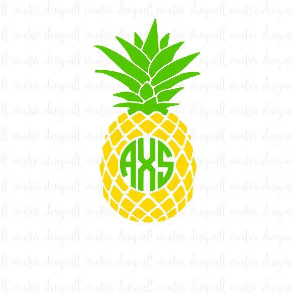 Download Pineapple Monogram Svg, Pineapple Svg, Pineapple, Circle ...