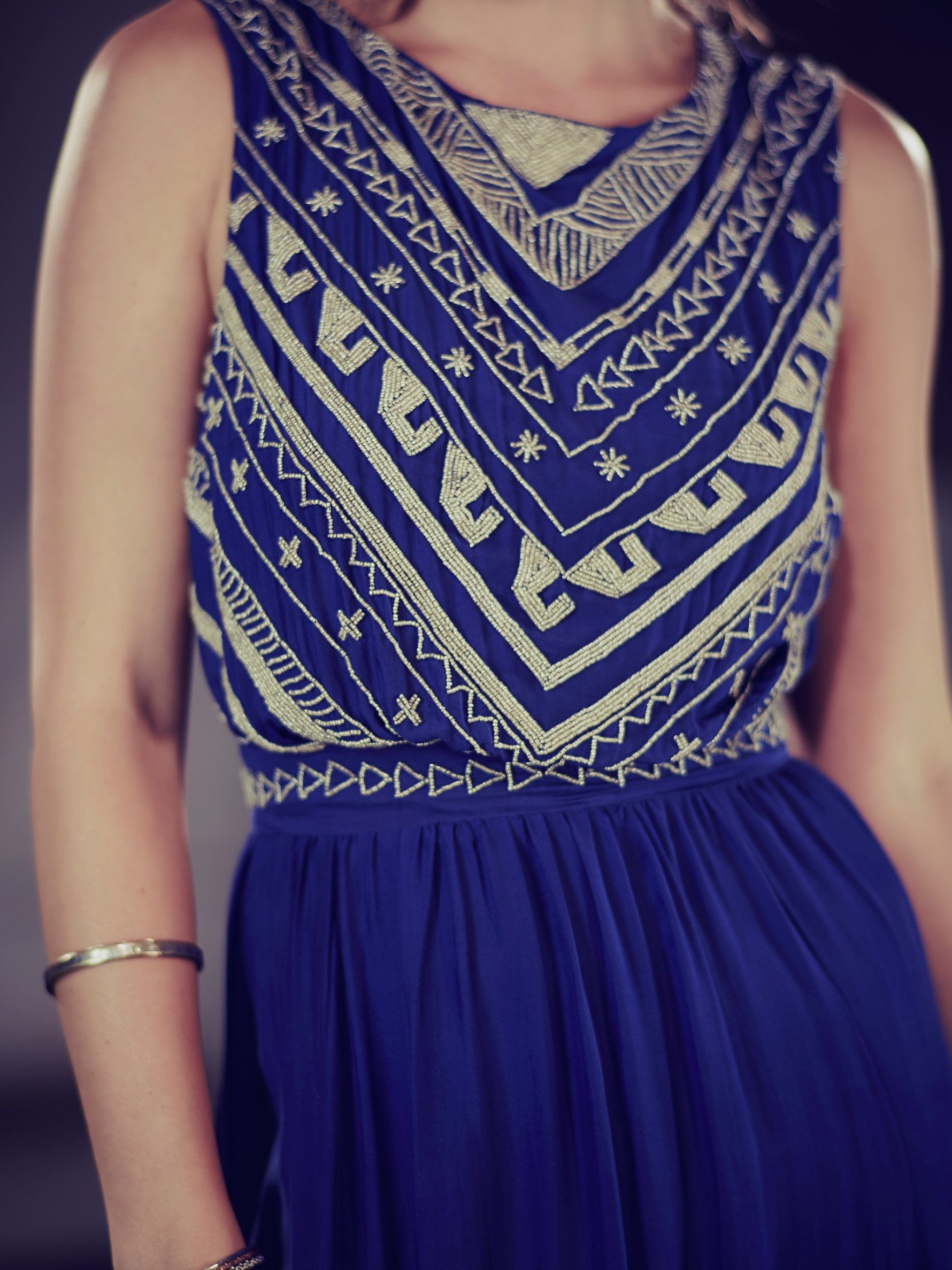 Free People Beaded Silk Chiffon Gown, $1254.00   Clothes   Pinterest