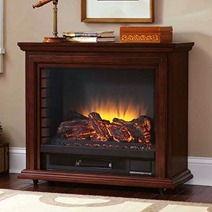 Sheridan Infrared Rolling Electric Fireplace Cherry Glf 5002 68 Pleasant Hearth Electric Fireplace Fireplace Heater Electric Fireplace Heater