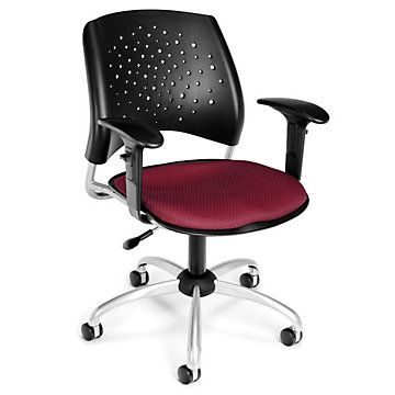 Stars Task Chair w/ Arms, OFM-326-AA3, Adjustable, Durable, Comfortable, Home Office.