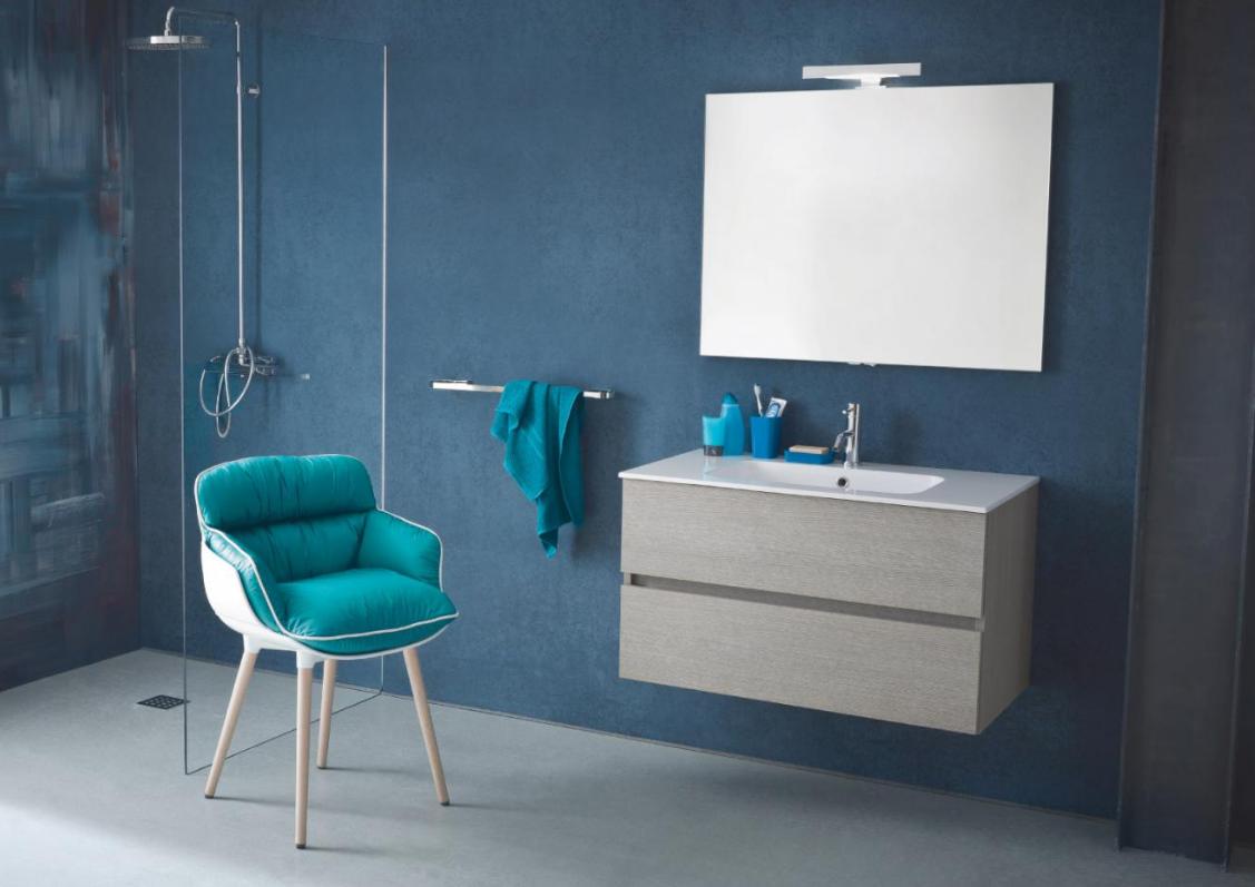 Composizione mobile bagno kios tris base lavabo da cm