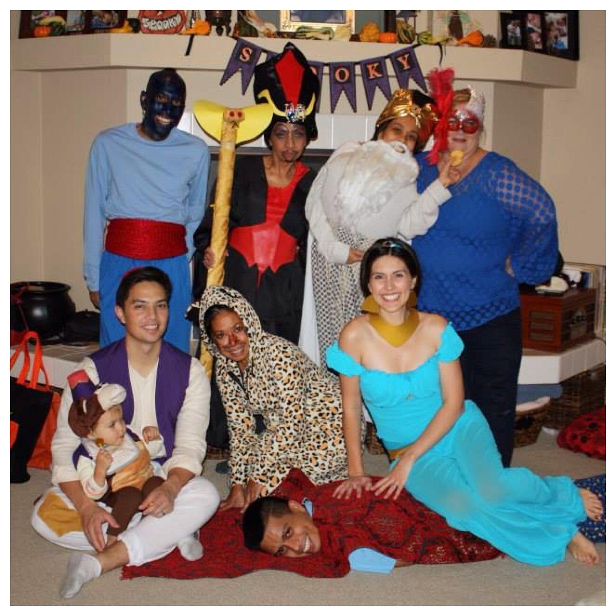 Halloween Costumes Aladdin Jasmine Abu Jafar Iago Raja