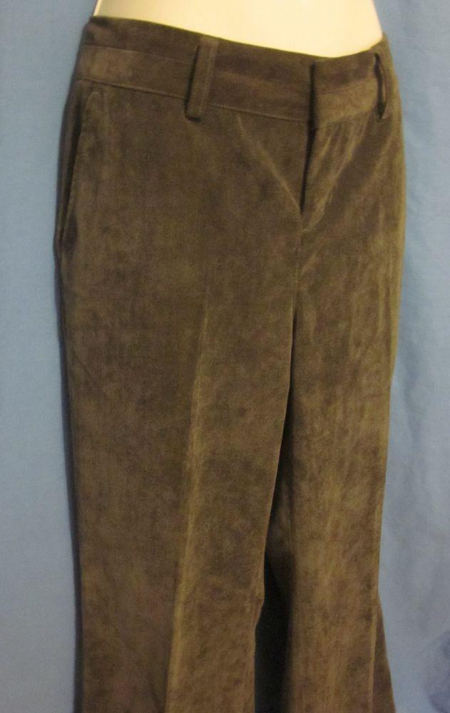 bd91a48e3e5e3d Coldwater Creek Womens Thin Corduroy Pants Trouser Fit Petites 6 P6 Dark  Green
