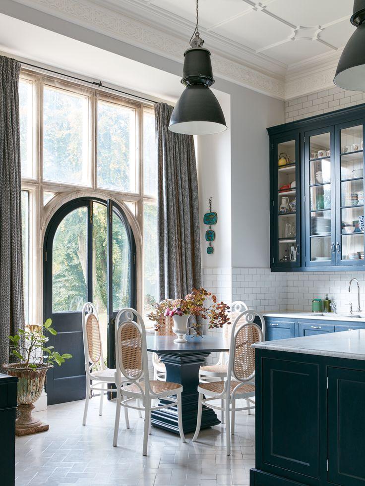 Vintage Modern Kitchen Design With High Ceilings Dark Gray Pleasing Kitchen Designs With High Ceilings Design Ideas