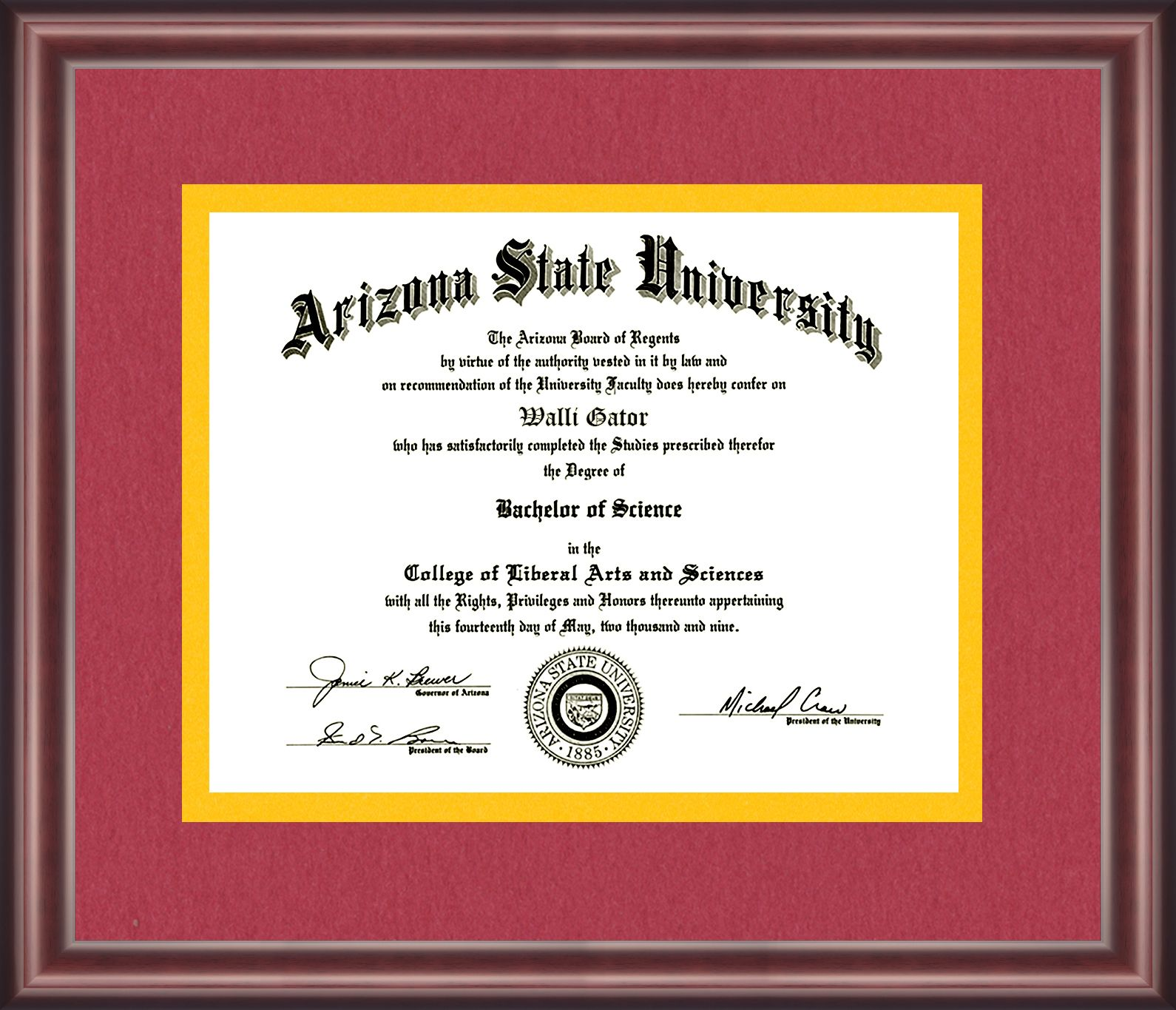 Arizona State University Diploma Frame Talking Walls Arizona State University Diploma Frame Arizona State