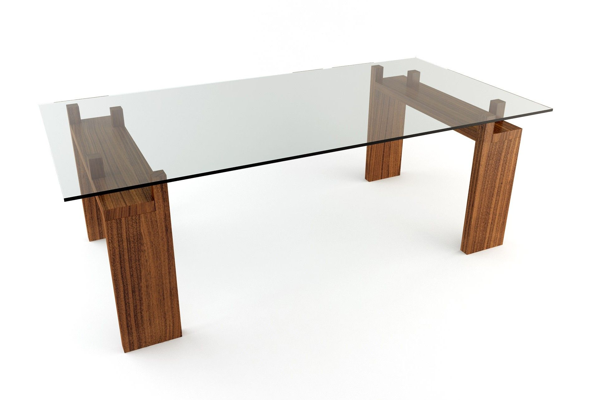 Winsome Glass Top Wood Base Coffee Table and glass top dining ...