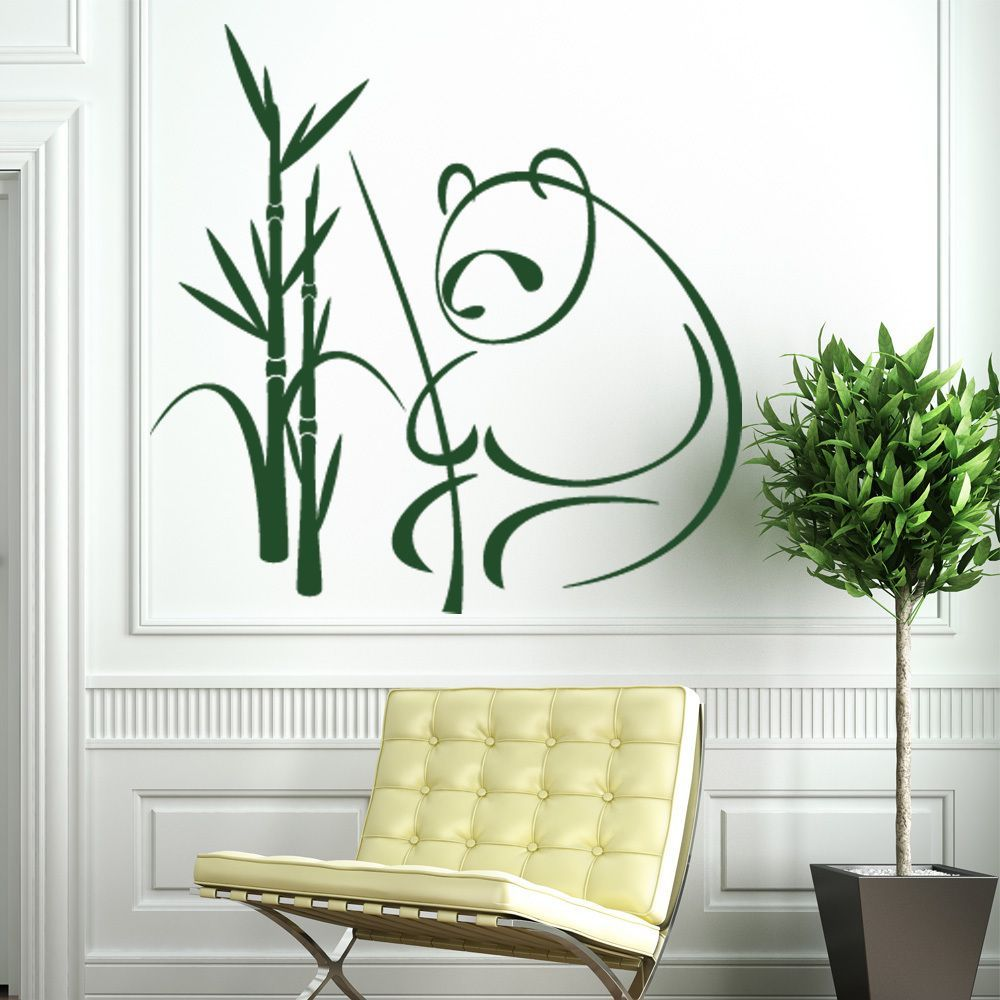 Panda wall decal sticker mural vinyl decor wall art by style and panda wall decal sticker mural decor wall art amipublicfo Image collections