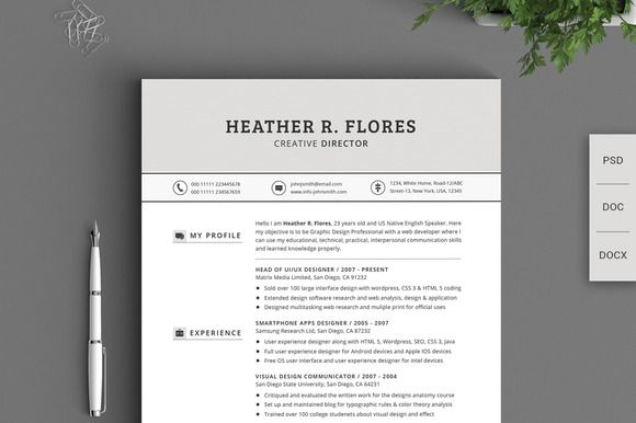 Check out 21 Pieces Timeless Resume CV Pack by SNIPESCIENTIST on - design researcher sample resume
