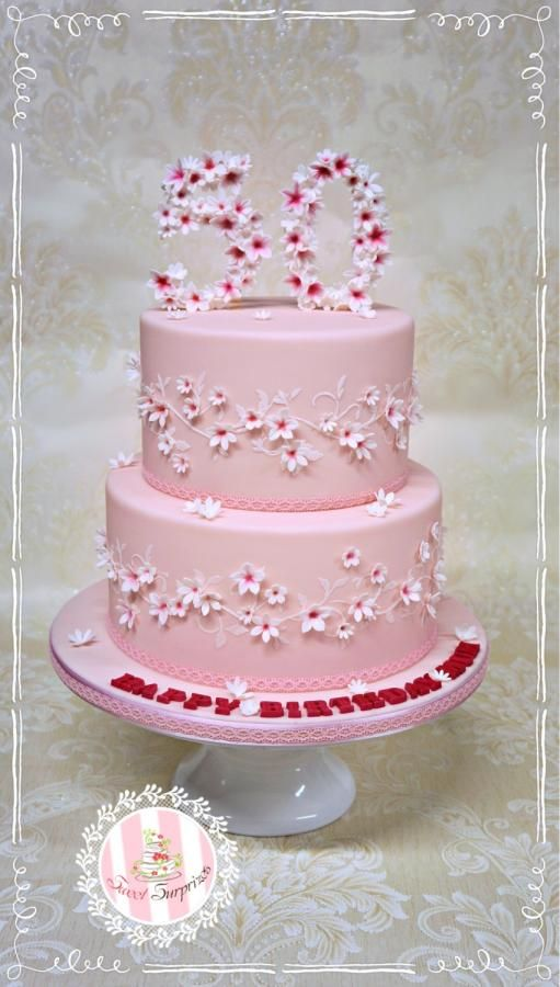 Pretty Pink 50th Birthday By Sweet Surprizes Cakes Cake