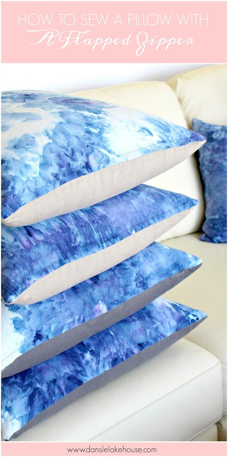 How to Sew a Pillow with a Flapped Zipper & How to Sew a Pillow with a Flapped Zipper | Pillows Sewing ... pillowsntoast.com