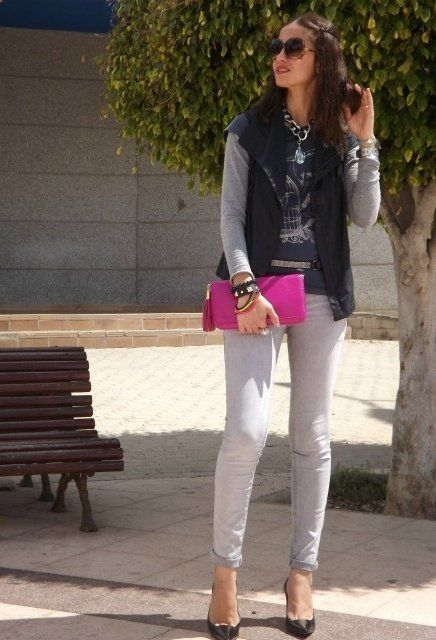 IT LOVES AND PINK ROCK BY MERY  , H in Glasses / Sunglasses, Stradivarius in Vests, H in Clutches, Zara in Heels / Wedges, IT LOVES COMPLEMENTOS in Jewelry