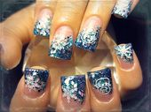 Photo of First snow fall  Nail Art Gallery by NAILS Magazine