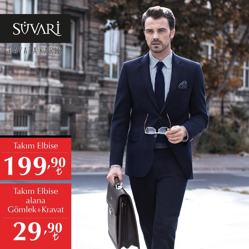 80674f413f95d Moda çizgiler, zamansız şıklık ve uygun fiyatlar mı arıyorsunuz? Süvari'de Takım  Elbise: 199,90 TL + Gömlek ve Kravat: 29,90 TL