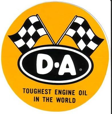 vtg Stud oil racing sticker decal hot rod drag race motor old stock 4/""