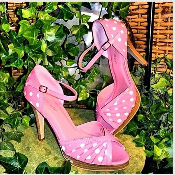 New! Polk-a-Dot Pink Heels New! Polk-a-Dot Pink Heels. Please specify size needed in message. Sold separately. Shoes Heels