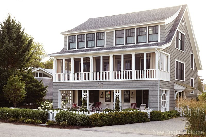 This quintessential New England beach house on the New Hampshire ...