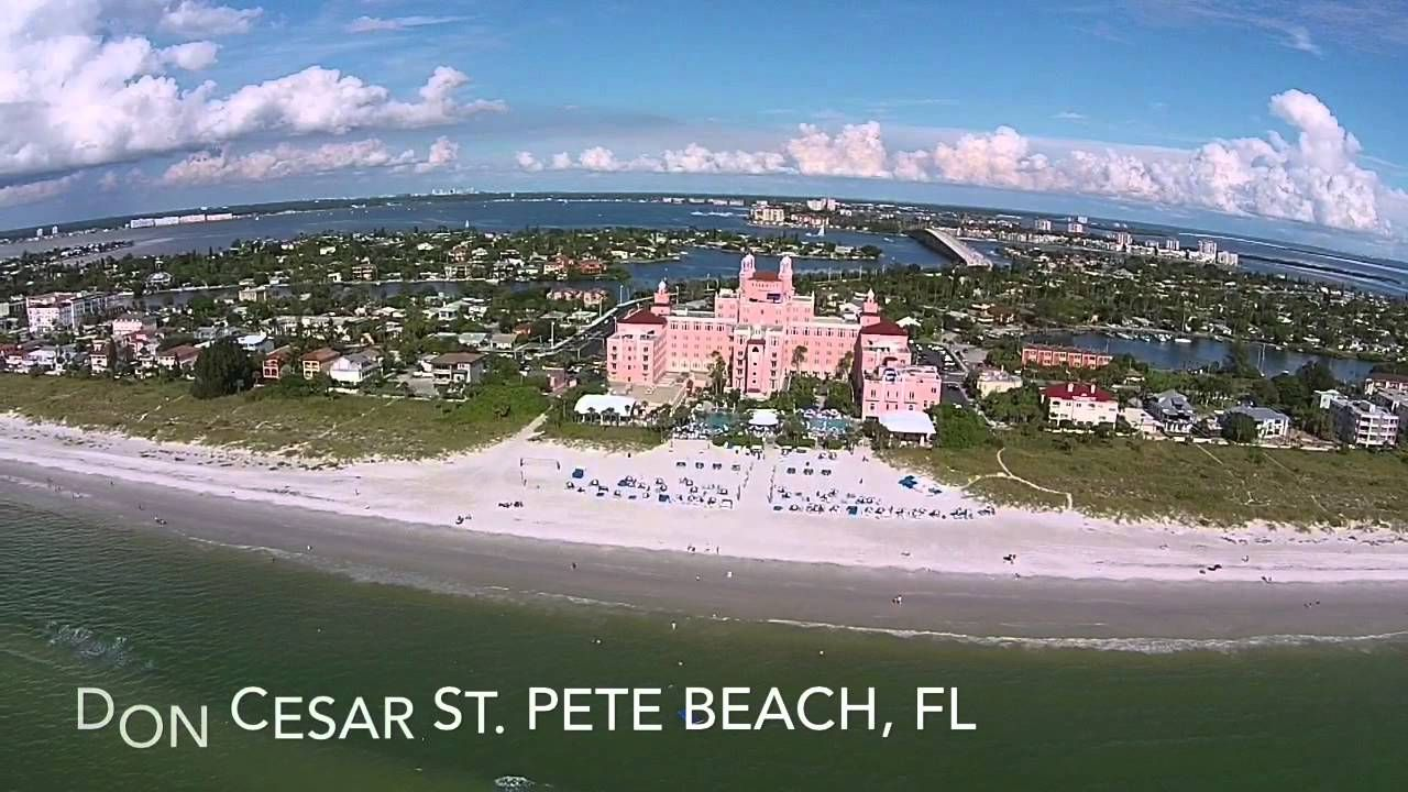 Drone View of the Don CeSar at St. Pete Beach, Florida
