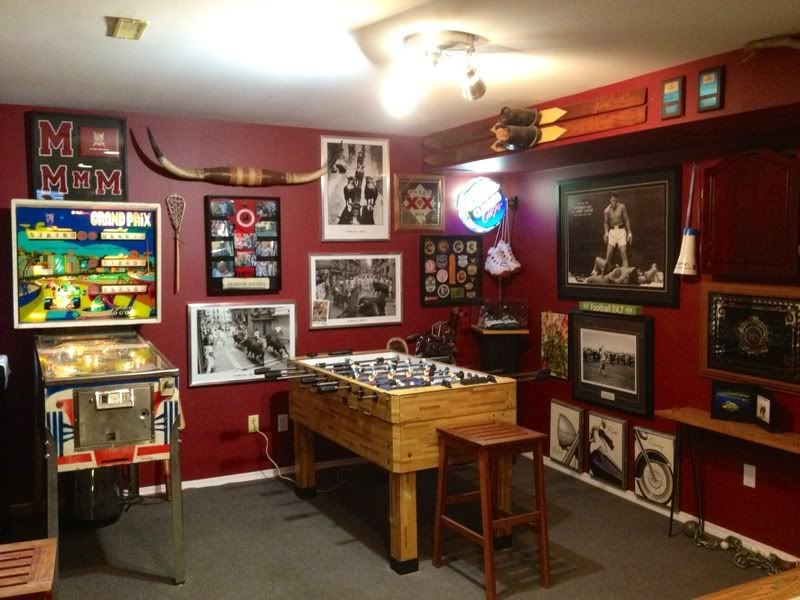 Sports Rooms Man Caves The Basement Game Room Is The Most Classic Style Of Man Cave Full Of Small Game Rooms Game Room Family Game Room Decor