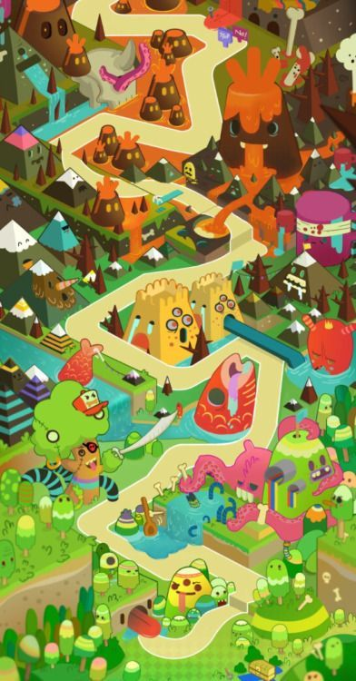 Art of lady t crop of a map i did on wotpuzzle for dena its crop of a map i did on wotpuzzle for dena its a long vertical map will post other parts soon gumiabroncs Choice Image