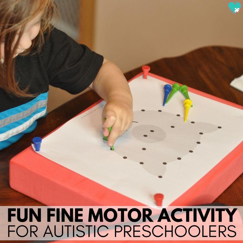 Independent Fine Motor Activity for Autistic Preschoolers ...
