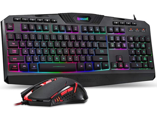 Redragon S101 Wired Gaming Keyboard And Mouse Combo Rgb Backlit Gaming Keyboard In 2020 Keyboard Gaming Mouse Pc Gamer