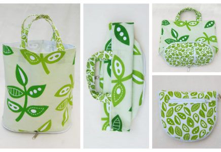 Photo of DIY Fabric Shopping Bag in Purse Free Sewing Pattern