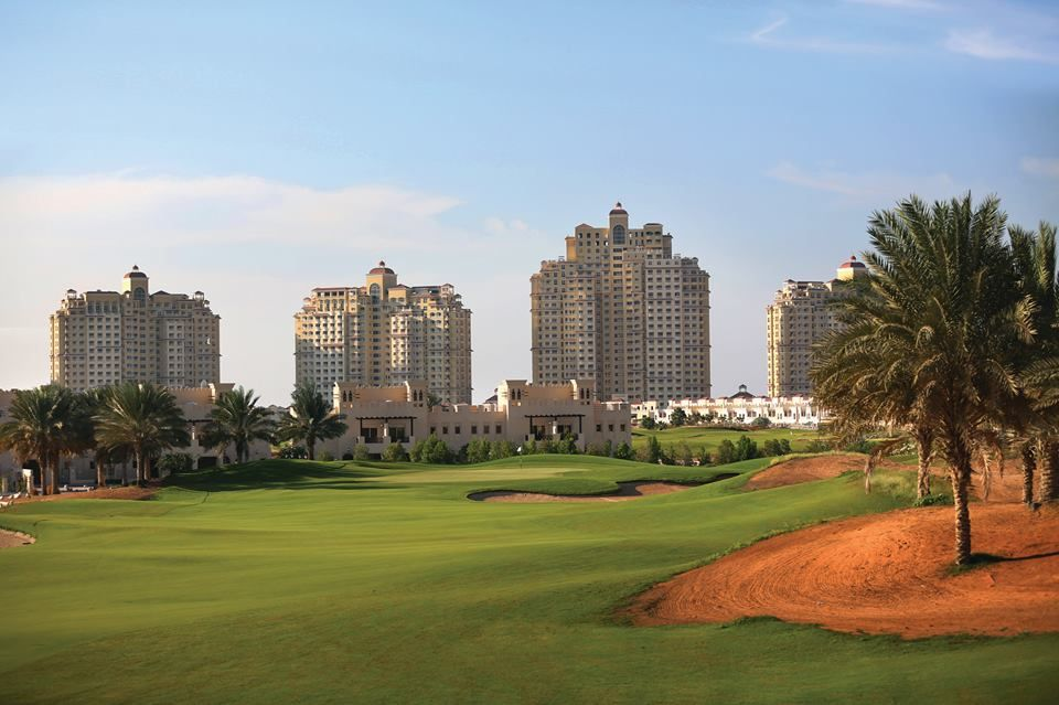 Spend a day on the vibrant grassy plains of the Al Hamra championship golf course  at Waldorf Astoria RAK.