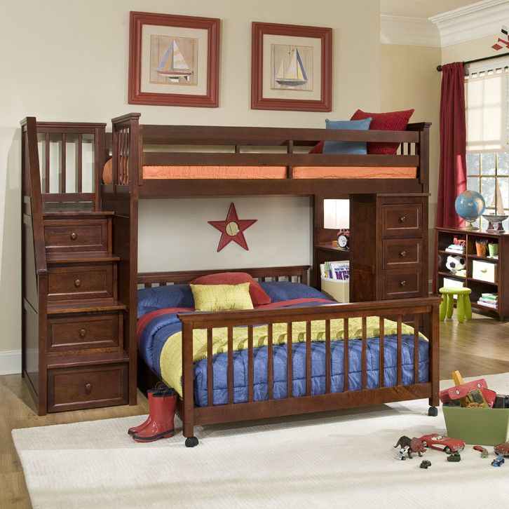 24 Designs Of Bunk Beds With Steps Kids Love These Bunk Beds Bunk Beds With Stairs Bunk Bed Steps