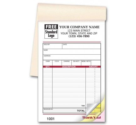 Colored Custom Receipt Books 691T Business Forms Pinterest - cash sale receipt