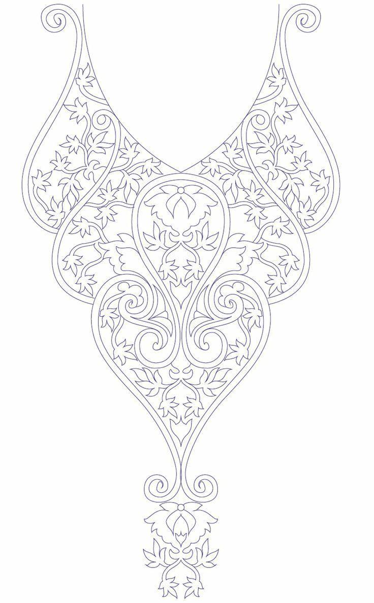 Hand embroidery designs for kurtis neck | Bordado | Pinterest ...