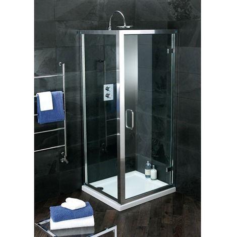 Atlas 900mm Shower Enclosure Hinged Door Shower Enclosure