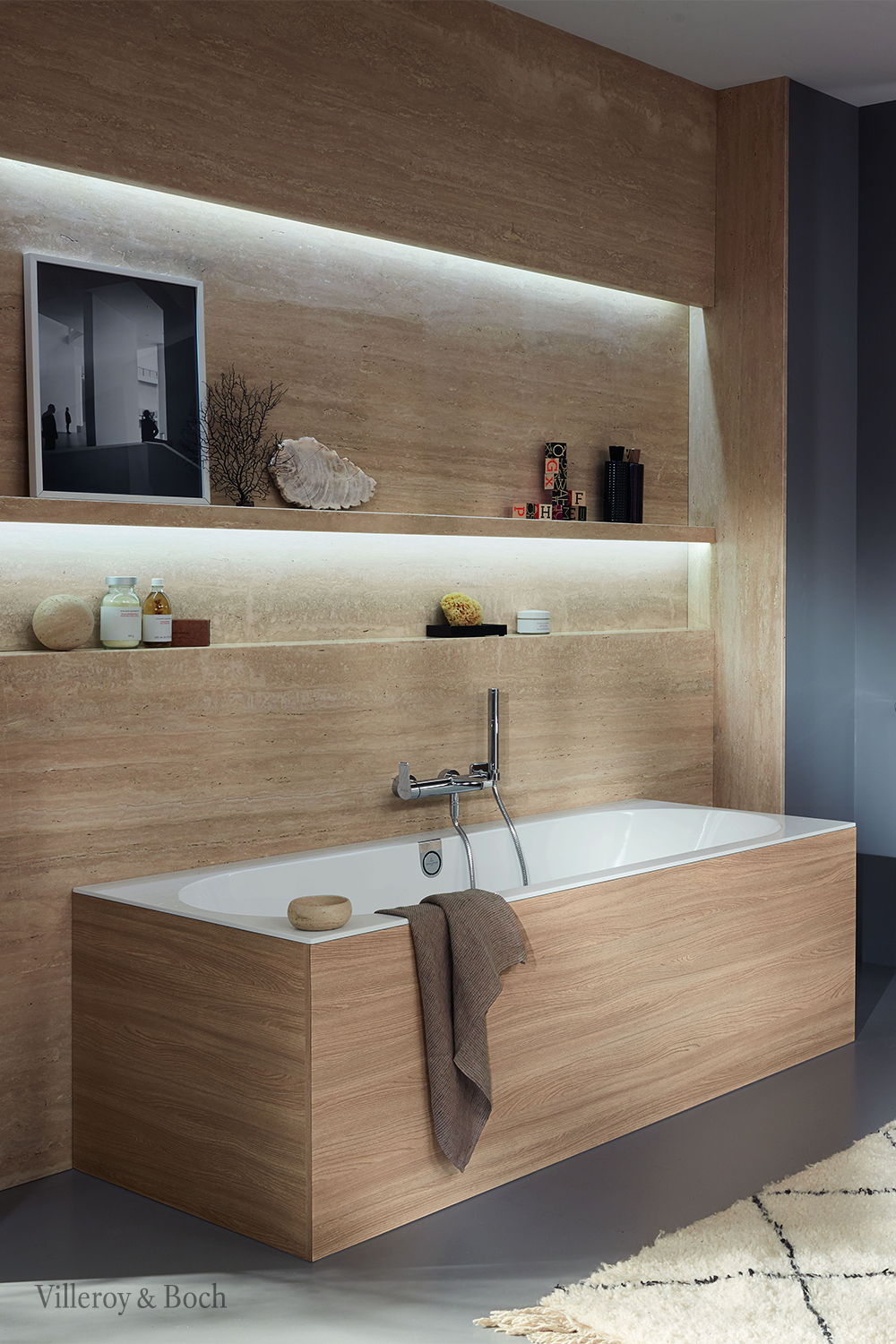 Today Natural Materials And Patterns Are More Popular Than Ever Before When It Comes To Interior Designs How About Badezimmer Holz Badezimmer Design Badewanne