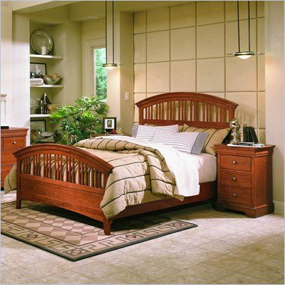 stanley furniture cherry wood bedroom   Stanley Furniture Translation  Cherry Wood Slat Bed 3 Piece Bedroom. stanley furniture cherry wood bedroom   Stanley Furniture