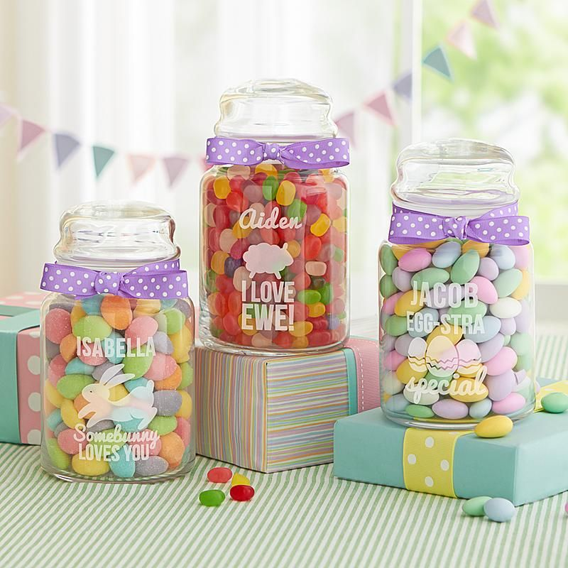 Easter candy jar gift ideas pinterest easter candy easter send easter candy jar and other personalized gifts at personal creations negle Image collections