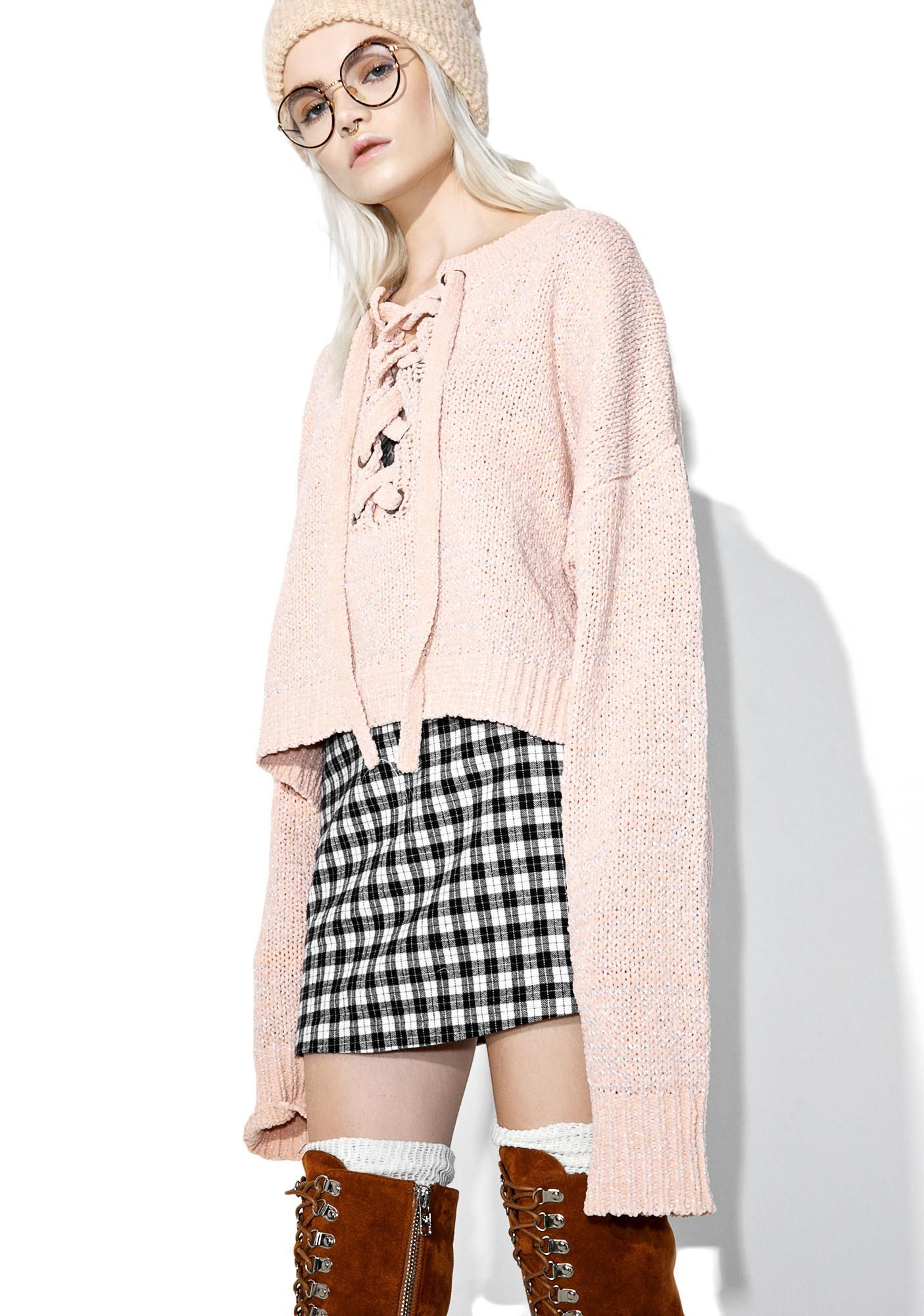 Oh gee laceup sweater streetwear clothing boy london and wildfox