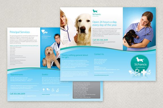 Veterinary Brochure Template This Brochure Is Appropriate For A - Office brochure templates