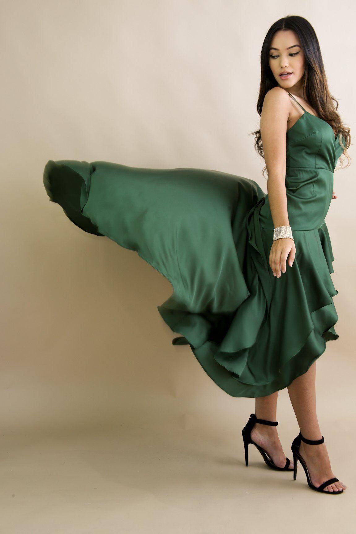 Green deepv party flowy maxi dress fashion part pinterest