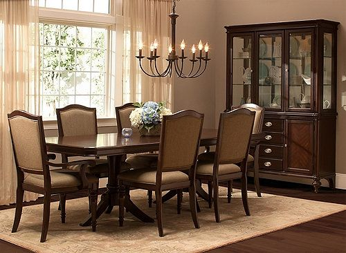 Refined Yet Relaxing The Bay City 7Piece Dining Set Delivers Cool Raymour And Flanigan Dining Room Set Design Inspiration