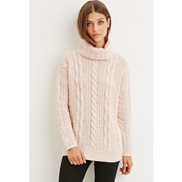 Forever 21 Forever 21 Women s Cable Knit Turtleneck Sweater ( 17) ❤ liked  on Polyvore featuring tops 354b5852b41
