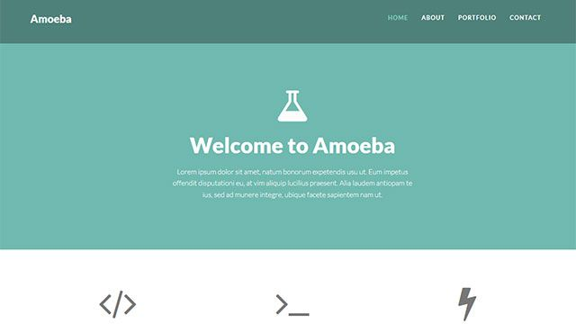 free one page bootstrap template amoeba theme demo resources - Free Page 3