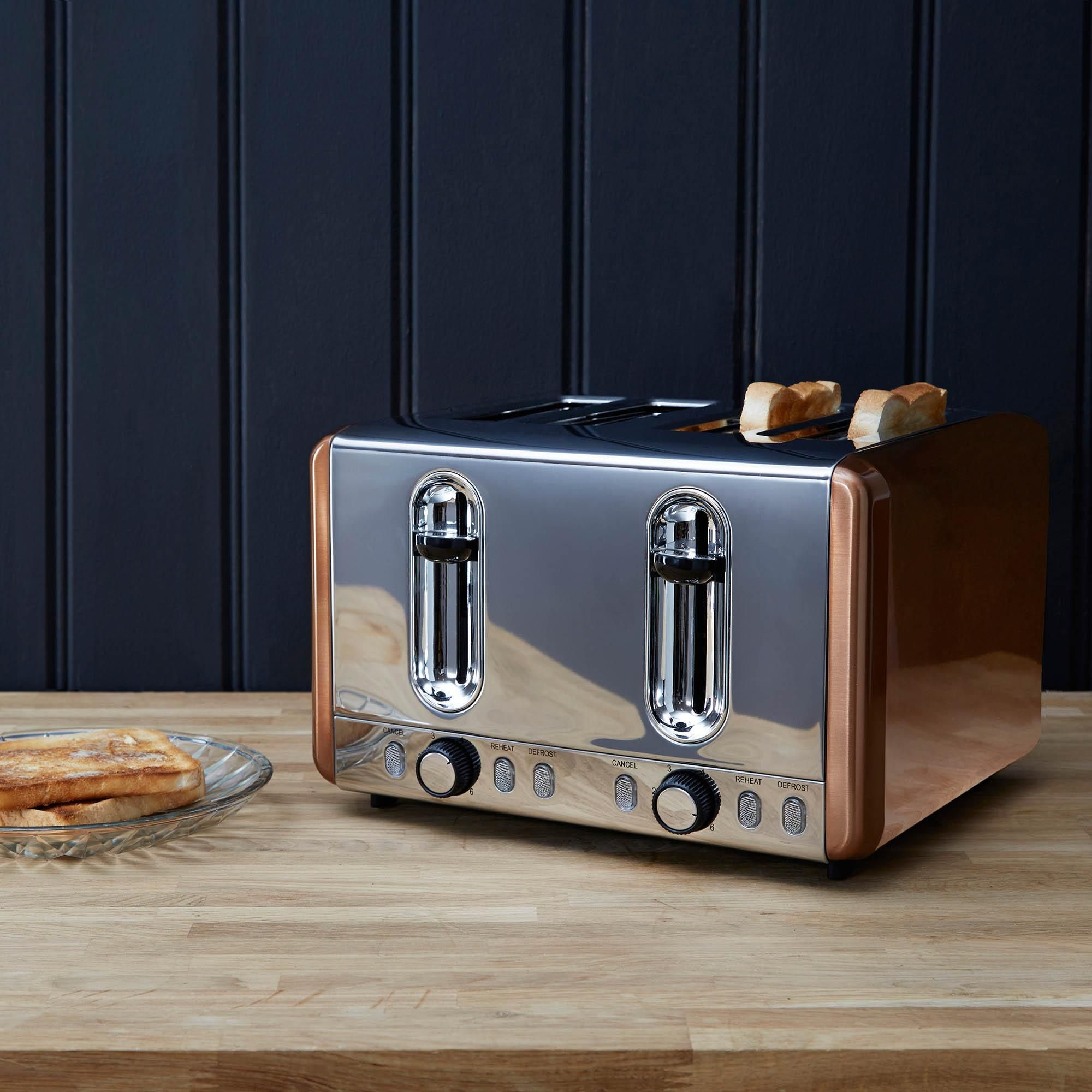 Copper 4 Slice Toaster In 2020 Toaster Dunelm Four Slice Toaster
