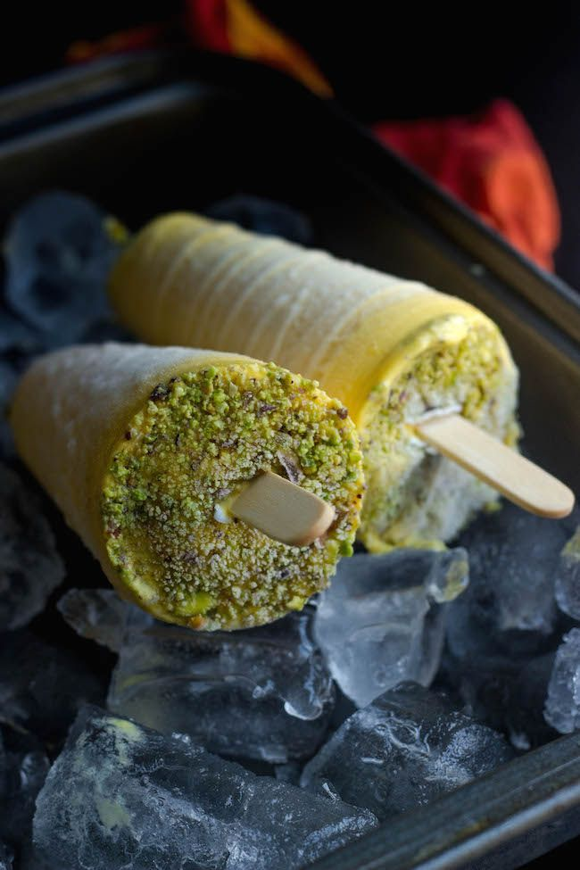 Mango Kulfi Kulfi With Condensed Milk Creamy Mango Popsicle No Cook Mango Kulfi Easy Kulfi Recipe Kulfi Recipe Mango Kulfi Mango Popsicle Recipes