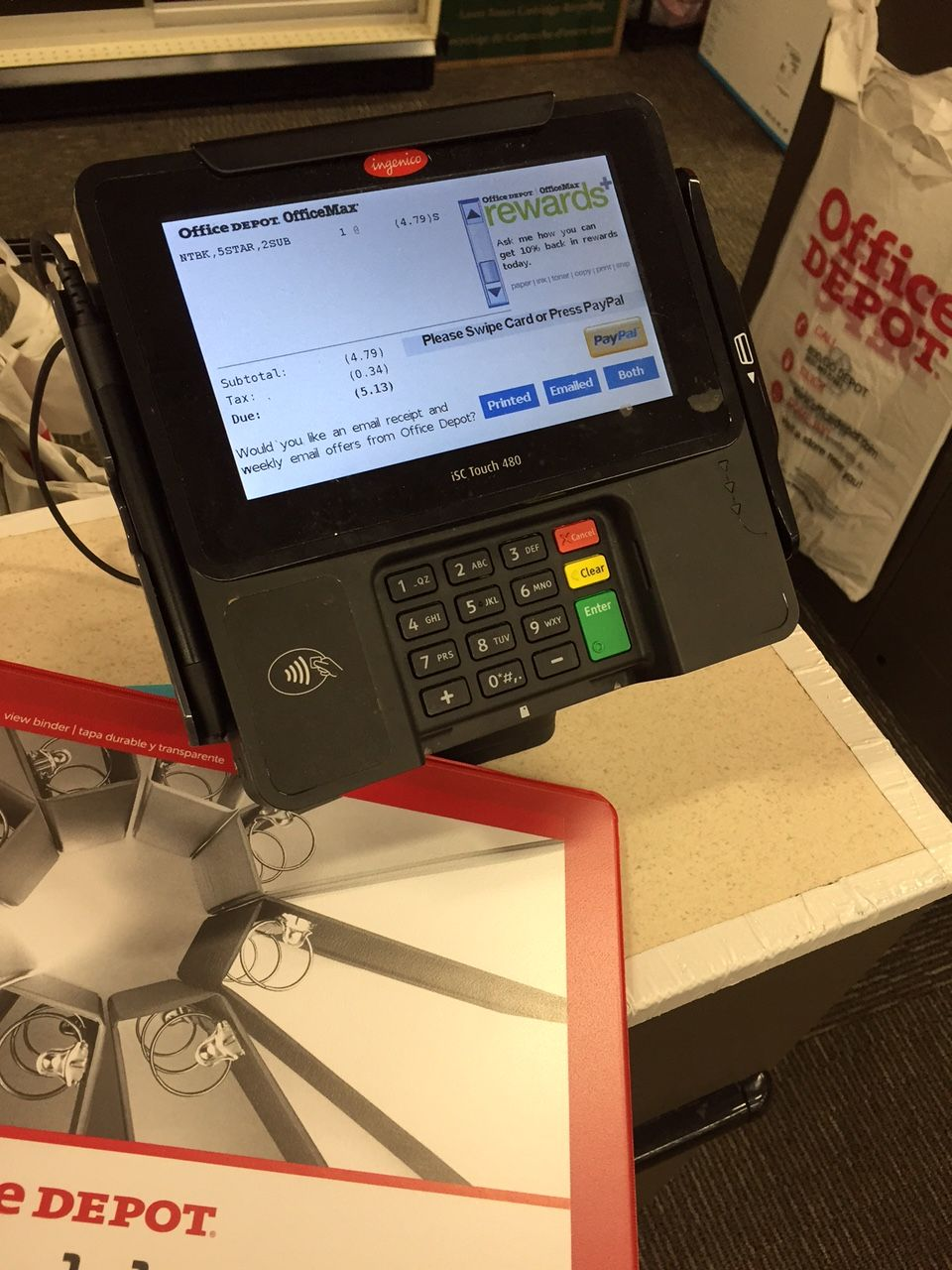 Spotted The Ingenico Group S Isc480 In Action At Office Depot In Alpharetta Ga To Learn More About This Device Pl Mobile Solutions Office Depot Office Max
